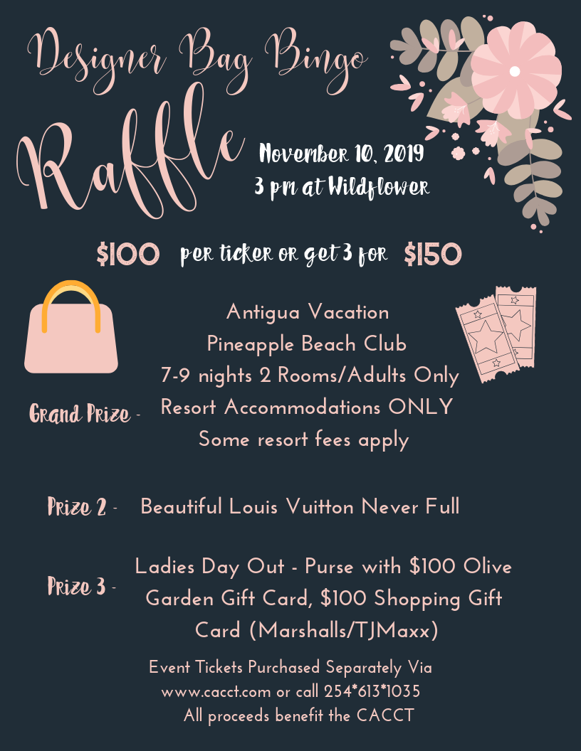 2019 Designer Bag Bingo Raffle Tickets